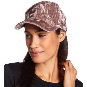 Bcbg pink velvet hat